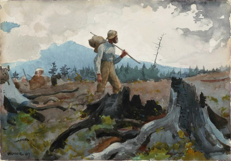 Winslow_Homer_-_The_Guide_and_Woodsman_(1889)(1)
